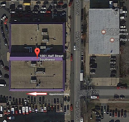 Washington DC Emissions Inspection Station Map Location